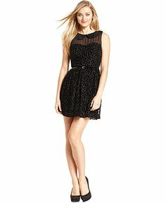 kensie Dress, Sleeveless High-Neck Velvet-Dot - Dresses - Women - Macy's $27