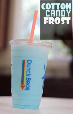 This secret frost drink is made with white chocolate and blue raspberry. Once you start ordering from the Dutch Bros secret menu, you'll never go back to their regular, boring choices. Also includes secret frosts and rebels. Dutch Bros Menu, Dutch Bros Secret Menu, Dutch Bros Drinks, Candy Drinks, Yummy Drinks, Dutch Brothers, Rebel, Starbucks Secret Menu Drinks, Secret Menu Items