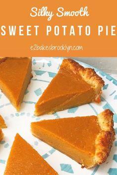 Silky Smooth Sweet Potato Pie Homemade Sweet Potato Pie, Vegan Sweet Potato Pie, Sweet Potato Recipes, Southern Sweet Potato Pie, Sweet Potatoe Pie, Sweet Potato Cookies, Sweet Potato Dessert, Sweet Potato Brownies, Köstliche Desserts
