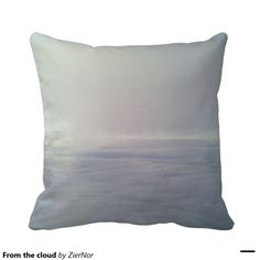 From the cloud throw pillows