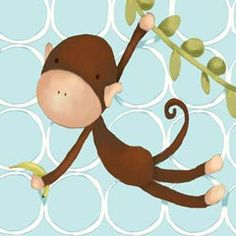Our canvas reproduction featuring a two toned brown monkey, will create a youthful and cheerful atmosphere to the room. The beautiful artwork is printed onto a canvas, and is then hand stretched over a wooden frame.