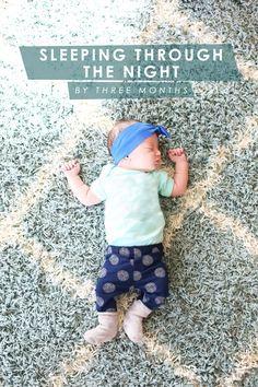 baby sleeping through the night