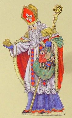 International Santa Claus Collection,1992, SINTER KLAAS Dutch Figurine, The Netherlands