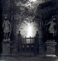 """http://edithwho.blogspot.com.es/2013/04/to-manor-born.html Entrance to """"The Wilderness"""" at Renishaw Hall, photographed by Bill Brandt. 1945."""