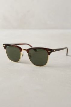 Ray-Ban Clubmaster Sunglasses Brown Motif All Eyewear #anthrofave