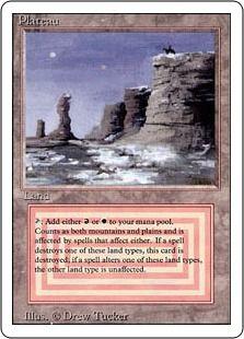 Dual lands #3: Plateau (Revised Ed.)