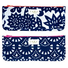 Gifts Under $25: LuRu Home Cotton Zippered Pouches, luruhome.com #InStyle