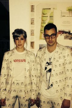 "Rachel Antonoff and Jack Antonoff - Boob Print is ""I'll Be Wearing A Red Carnation"" by Francine Dressler"