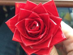 Duck Tape Rose — DIY How-to from Make: Projects