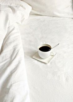 A hot cup of coffee on Saturday morning. #coffee #morning #bed www.vainpursuits.com
