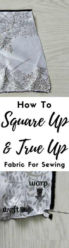 How to square up fabric