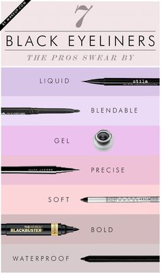 7 Black Eyeliners Makeup Artists Can't Live Without #cat eye