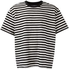 À La Garçonne striped T-shirt (6.480 RUB) ❤ liked on Polyvore featuring tops, t-shirts, shirts, black, striped short sleeve shirt, short sleeve crew neck t shirt, crewneck shirt, cotton shirts and tee-shirt