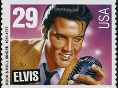 Elvis was one of the performers featured on a set of stamps of rock and blues legends issued by the U.S. Postal Service in June 1993. Fans had fought for years to get Elvis a stamp, and many were disappointed that they had to vote for either the 'Young' Elvis (which eventually won) or the 'Jumpsuit' Elvis. He'd touched so many hearts; they'd hoped both would be released.