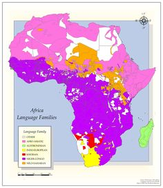Language families of Africa.