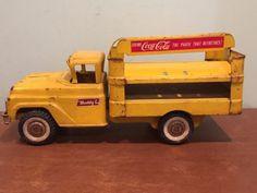 Vintage-Buddy-L-Coca-Cola-Coke-Soda-Advertising-Delivery-Truck