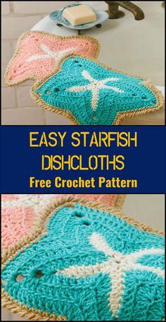 Crochet EasyStarfishDishcloths - 110+ Free Crochet Patterns for Summer and Spring - Page 4 of 12 - DIY & Crafts