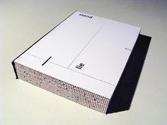 """lie-stand book"" graphic design by Karol Prudil"