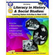 Literacy in History and Social Studies: Learning Station Activities to Meet CCSS builds student interest, allows for inquiry, and increases student achievement. Includes Common Core State Standards ma
