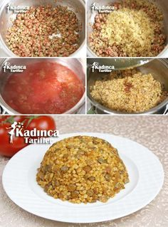 Antep Usulü Mercimekli Bulgur Pilavı Tarifi, Nasıl Yapılır – Vejeteryan yemek tarifleri – Las recetas más prácticas y fáciles Yummy Recipes, Most Delicious Recipe, Easy Cake Recipes, Rice Recipes, Healthy Recipes, Turkish Recipes, Italian Recipes, Good Food, Yummy Food