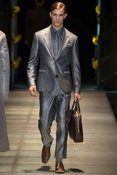 @Versace #Fall2015 #Menswear #fashion #Milan #runway #plaid
