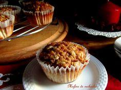 cousas de milia: Muffins de ruibarbo con crumble crujiente
