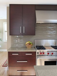 """Kitchen Glass Subway Tile Kitchen """"back Splash"""" Design"""