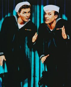 """Vintage 1949, """"On The Town"""" Frank Sinatra and Gene Kelly sing """"New York, New York, it's a wonderful town..."""" www.RevWill.com"""