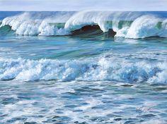 The Artwork of Susanne Leasure – California Seascapes Painting & Drawing, Watercolor Paintings, Ocean Paintings, Watercolors, Seaside Theme, Ocean Art, Waves, California, Gallery