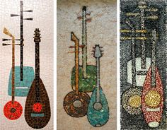 Mosaic Wall Panels III - many mosaics on site