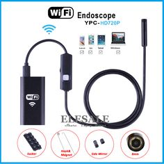 8mm 1/2/3.5/5m Wireless Wifi Endoscope Android Camera Borescope HD 720P Waterproof Inspection IOS Iphone Endoscope Camera
