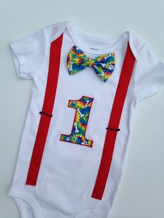 Puppy Birthday Outfit First Birthday Onesie Boys by SweetTootsy, $35.00