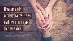 Frases sobre amizade Best Friens, Portuguese Quotes, King Of My Heart, Faith Hope Love, Word 3, Special Words, Thought Of The Day, Friends Forever, Friendship Quotes