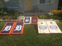 Tigers cornhole boards