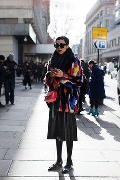 Colourful. Street fashion