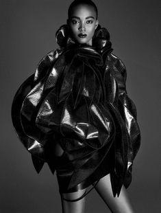 Vogue Germany December 2015: Afrika Art Models: Achok Majak, Amilna Estevao, Francine James, Grace Bol, Lineisy Montero, Mari Agory, Nykhor Paul, Riley Montana Photographer: Iango Henzi & Luigi Murenu