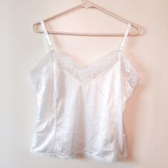 Vintage USA made white chemise lingerie size 1X True to size in great condition. Vintage Intimates & Sleepwear Chemises & Slips