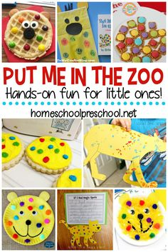 Put Me in the Zoo activities for kids are perfect for bringing this Dr. Seuss fa… Put Me in the Zoo activities for kids are perfect for bringing this Dr. Seuss favorite to life! Find crafts, worksheets, and snacks for kids! Zoo Activities Preschool, Animal Activities For Kids, Animal Crafts For Kids, Art Therapy Activities, Preschool Activities, Kids Crafts, Creative Activities, Summer Activities, Book Activities