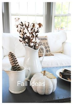 Nature Inspired ideas for Fall: Simple Nature Decor