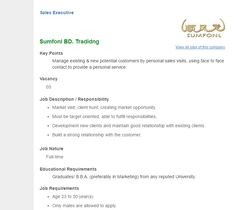 Career  Abacus Securities Ltd  Manager  Trade  Marketing