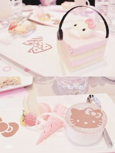 mochi-bunnies:Hello kitty cafe dessert (by Cheryl)