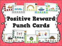 Reward punch cards for positive behavior management and student incentives - 10 designs!