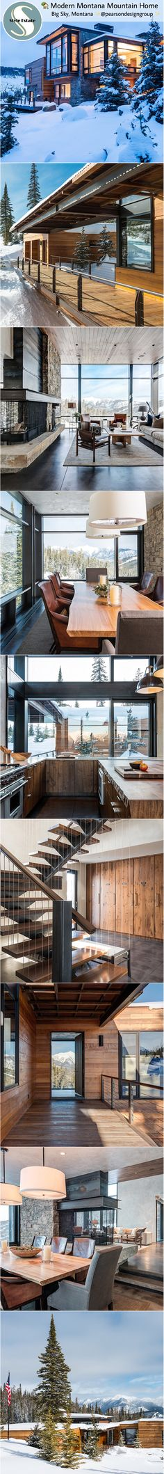 Modern Mountain Home – Big Sky, Montana ✨@pearsondesigngroup ✨