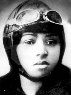 """Bessie Coleman (1892-1926) was the first African-American woman to become a licensed airplane pilot. She persevered through discrimination and danger in order to fly in the early days of aviation. Like many aviators of the early 20th century, she made her living as a barnstormer, similar to today's stunt pilots. People lined up to see """"Queen Bess"""" or """"Brave Bessie"""" in action."""