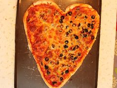Heart shaped pizza - we ordered it in the past but might try MAKING our own this year!!!