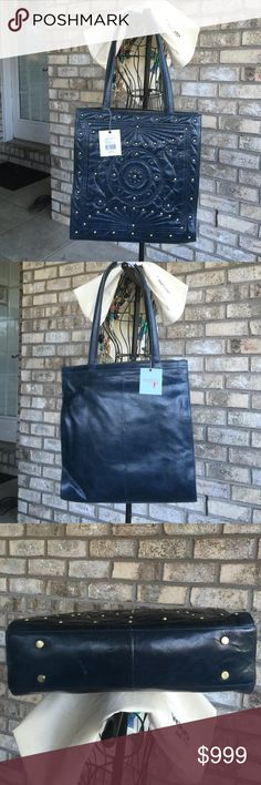 AUTHENTIC HOBO INTERNATIONAL HANDBAG, NWT (MARGO) NICE!! Color INK, details to follow! $268.00 HOBO Bags