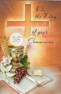 holy communion card suitable for a male or female in any age group