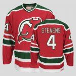 New Jersey Devils #4 Scott Stevens Premier Red and Green CCM Throwback Jersey