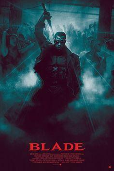 Artwork from the Marvel universe. Cinema Tv, Cinema Posters, Marvel Comics Art, Marvel Heroes, Blade Marvel, Vampire Hunter, Alternative Movie Posters, Movie Poster Art, Film Serie