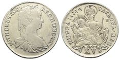 XV Kreuzer 1743 KB, Kremnitz. Herinek 1109 Maria Theresia, Coins, Personalized Items, Old Coins, Rooms